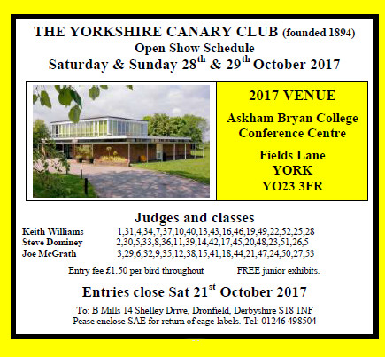 YCC show 2017 - all welcome